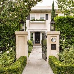 Rexford Residence Landscape Design Front Entry